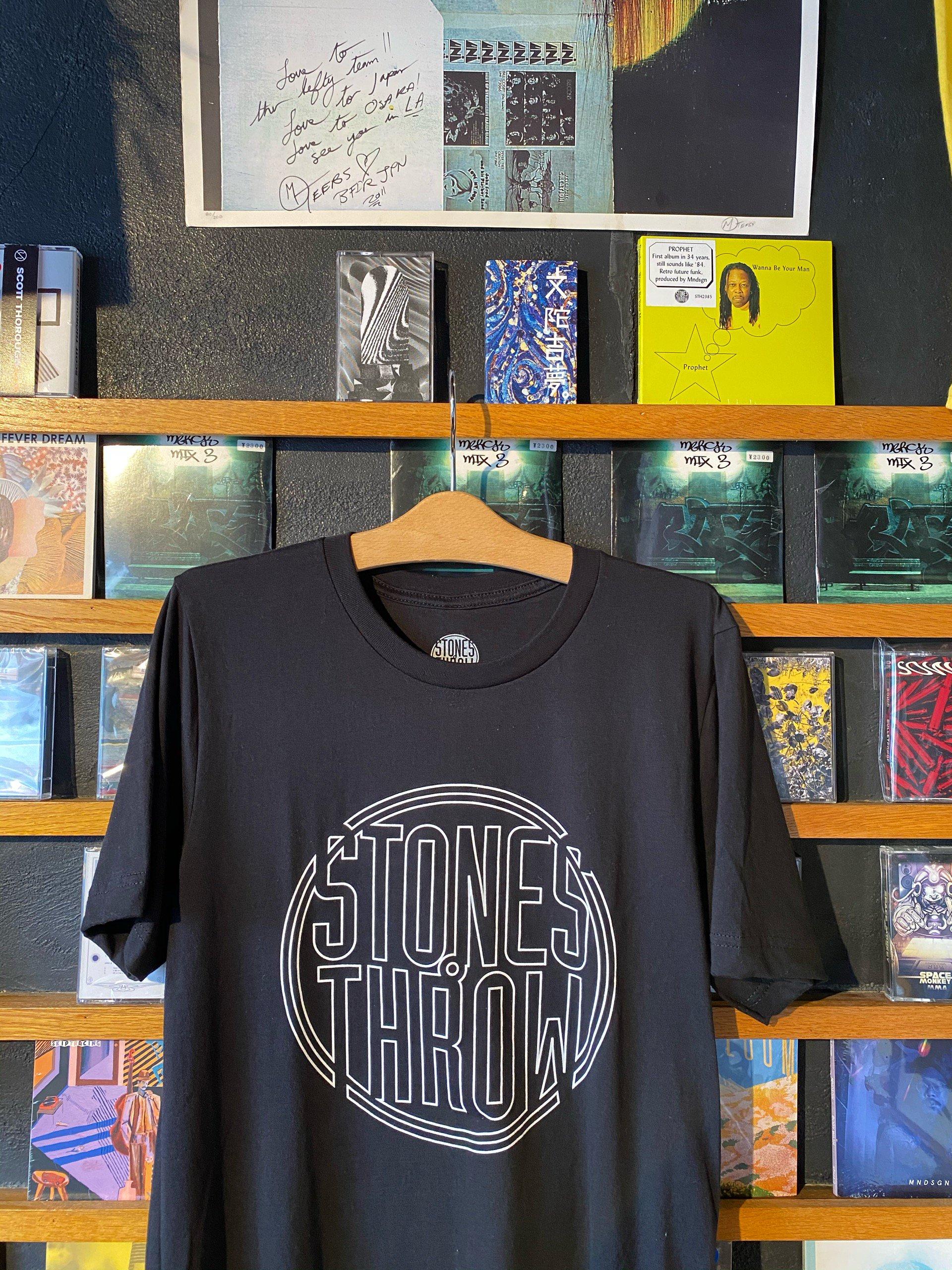 Stones Throw Logo T shirts -BLACK-NEW