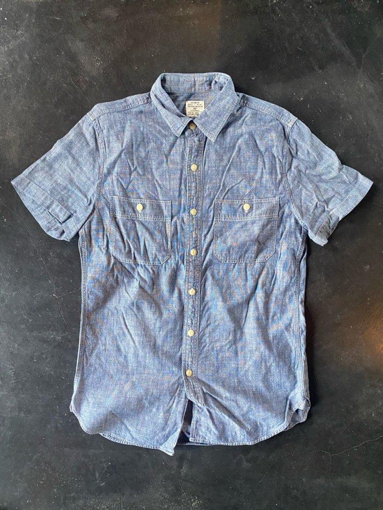 J CREW Cotton シャンブレーSHIRTS -Men's S-USED