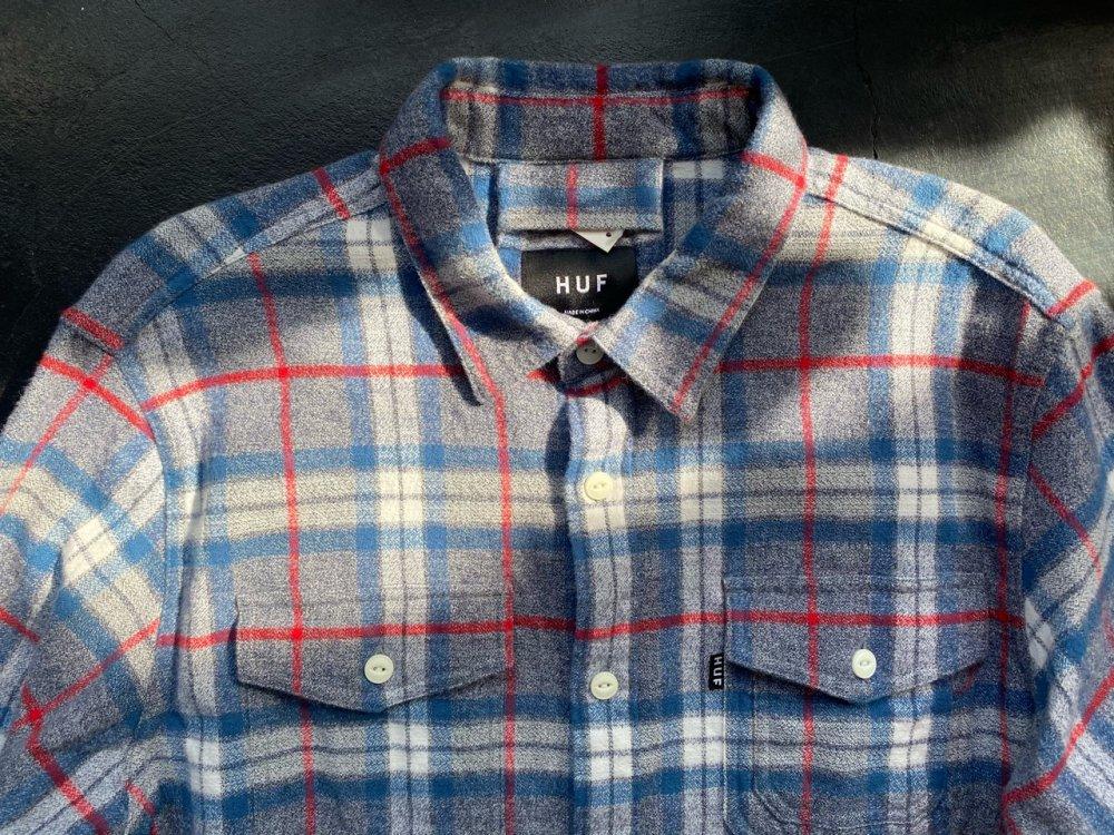 HUF cotton nel shirts -men's L