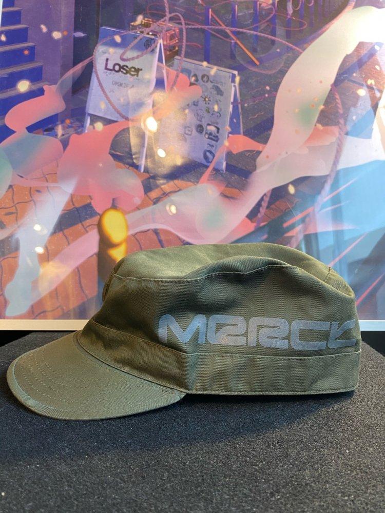 Merck -vintage- Cotton Army Cap Used XL
