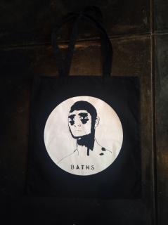 ANTICON / BATHS tote records bag