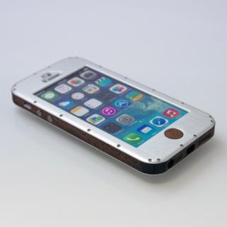 iPhone5ケース 白ヘアーライン