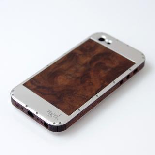 iPhone5ケース 鏡面 X 突板