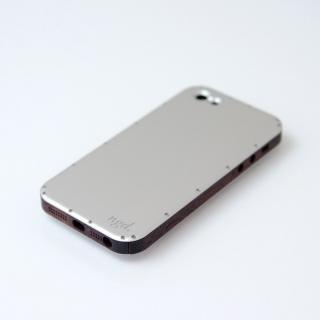 iPhone5ケース 白ヘアライン