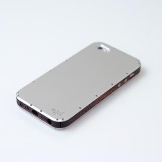 iPhone5/5Sケース 白ヘアライン