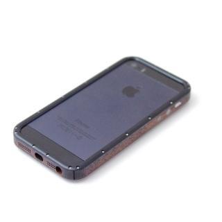 iPhone5/5Sケース 黒ヘアライン