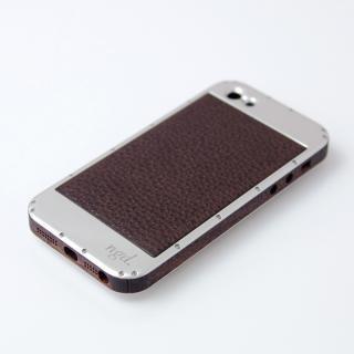 iPhone5ケース 鏡面 X 革
