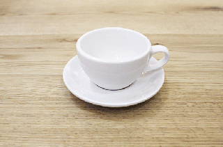 COFFEE CUP&SAUSER WHITE