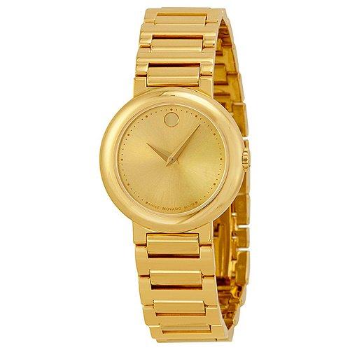 【Movado/モバード】 クオーツ腕時計 Museum ゴールド レディース ドレスウォッチ MV0606704