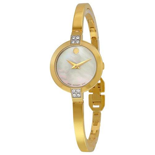 【Movado/モバード】 クオーツ腕時計 Bela パールダイアル ダイアモンド ゴールド レディース ドレスウォッチ MV06070…