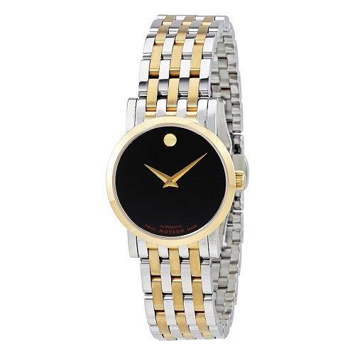 【Movado/モバード】 自動巻き腕時計 Red Label ブラックダイアル シルバー×ゴールド レディース ドレスウォッチ MV06070…