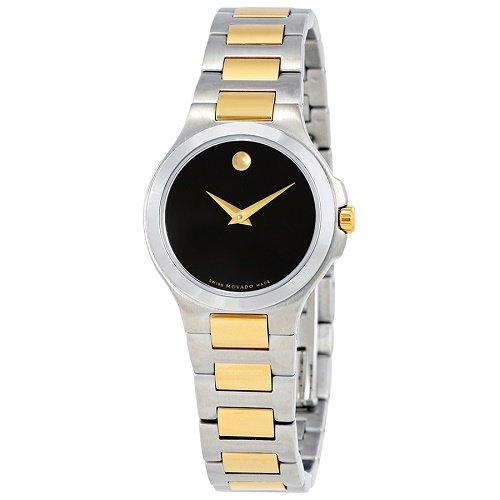 【Movado/モバード】 クオーツ腕時計 Collection ブラックダイアル シルバー×ゴールド レディース ドレスウォッチ MV06069…