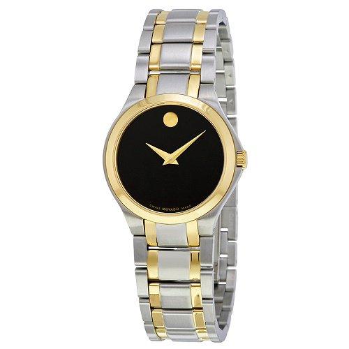 【Movado/モバード】 クオーツ腕時計 Collection ブラックダイアル シルバー×ゴールド レディース ドレスウォッチ MV06068…