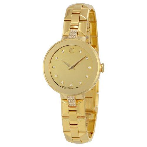 【Movado/モバード】 クオーツ腕時計 Sapphire ダイアモンドダイアル ゴールド レディース ドレスウォッチ MV06069…