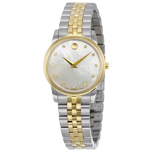 【Movado/モバード】 クオーツ腕時計 Safiro パールダイアル シルバー×ゴールド レディース ドレスウォッチ MV06069…