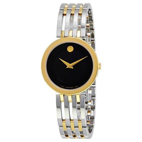 【Movado/モバード】 クオーツ腕時計 Esperanza ブラックダイアル シルバー×ゴールド レディース ドレスウォッチ MV06070…