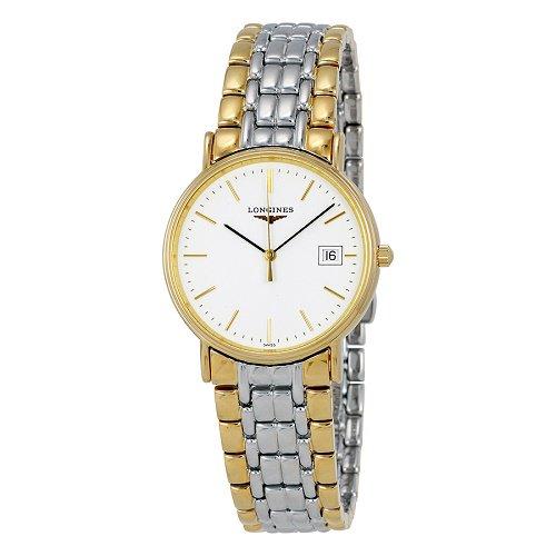 【Longines/ロンジン】 クオーツ腕時計 Presence ホワイトダイアル シルバー×ゴールド メンズ  ドレスウォッチ LNG472021…