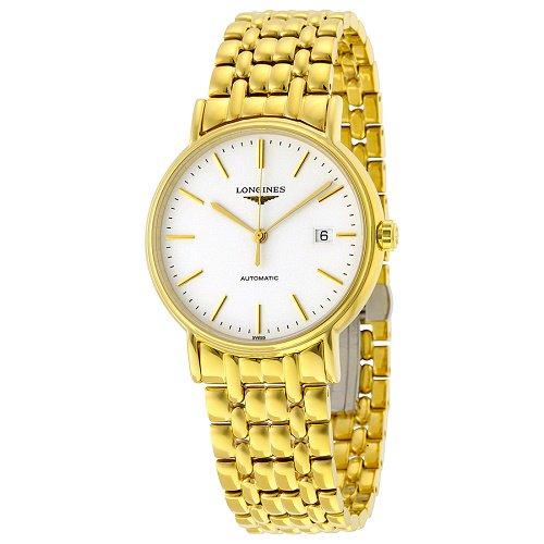 【Longines/ロンジン】 自動巻き腕時計 Presence ホワイトダイアル ゴールド メンズ ドレスウォッチ LNG492121…
