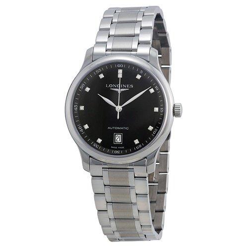 【Longines/ロンジン】 自動巻き腕時計 Master Collection ブラックダイアル ダイアモンド レディース ドレスウォッチ LNG262845…