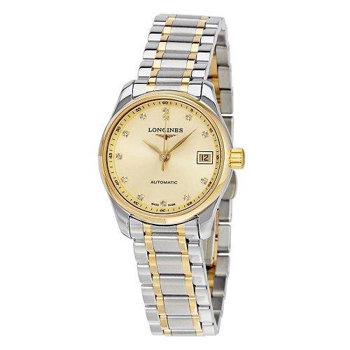 【Longines/ロンジン】 自動巻き腕時計 Master Collection シルバー×ゴールド ダイアモンド レディース ドレスウォッチ LNG212853…