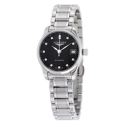 【Longines/ロンジン】 自動巻き腕時計 Master Collection ブラックダイアル ダイアモンド レディース ドレスウォッチ LNG212845…
