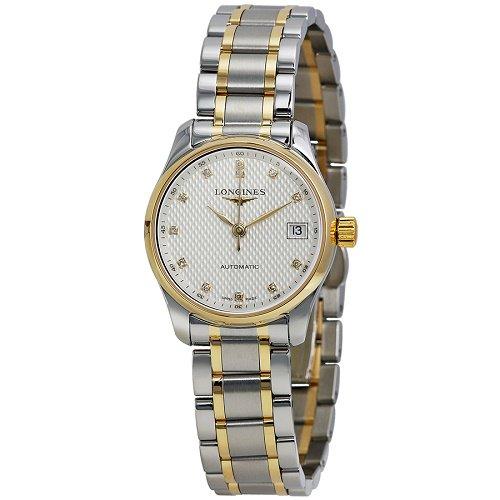 【Longines/ロンジン】 自動巻き腕時計 Master Collection シルバー×ゴールド ダイアモンド レディース ドレスウォッチ LNG212857…