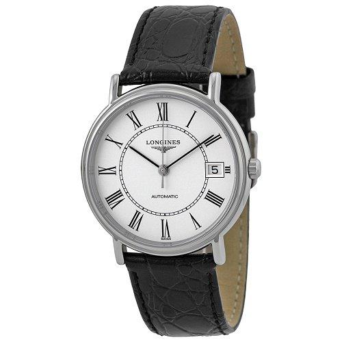 【Longines/ロンジン】 自動巻き腕時計 Presence ホワイトダイアル ブラックレザー レディース ウォッチ LNG482141…