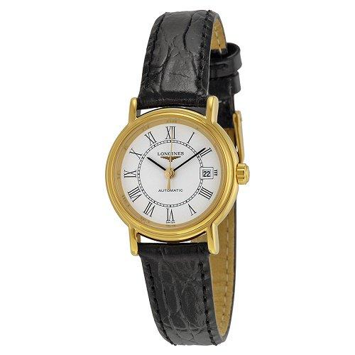 【Longines/ロンジン】 自動巻き腕時計 Presence ホワイトダイアル ブラックレザー レディース ドレスウォッチ LNG432121…