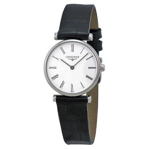 【Longines/ロンジン】 クオーツ腕時計 La Grande Classique ホワイトダイアル ブラックレザー レディース ウォッチ LNG420941…