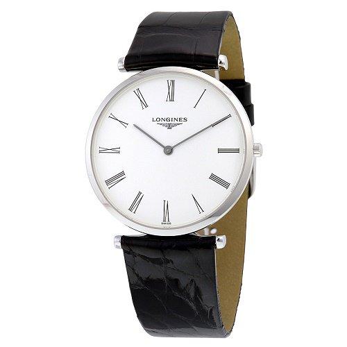 【Longines/ロンジン】 クオーツ腕時計 La Grande Classique ホワイトダイアル ブラックレザー レディース ドレスウォッチ LNG475541…