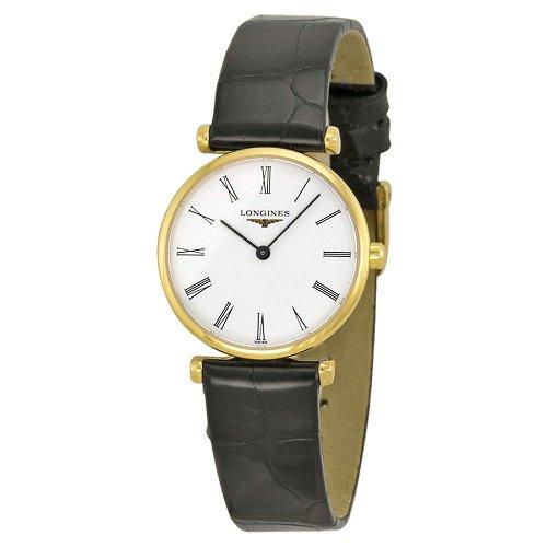 【Longines/ロンジン】 クオーツ腕時計 La Grande Classique ホワイトダイアル ブラックレザー レディース ドレスウォッチ LNG420921…