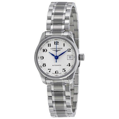 【Longines/ロンジン】 自動巻き腕時計 Master ホワイトダイアル シルバー レディース ウォッチ LNG212847…