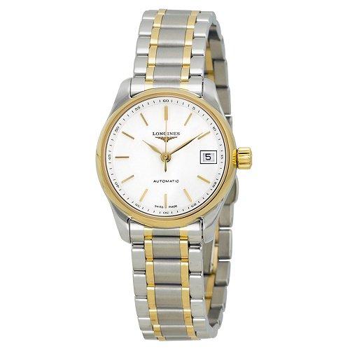 【Longines/ロンジン】 自動巻き腕時計 Master ホワイトダイアル シルバー×ゴールド レディース ウォッチ LNG212851…