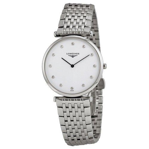 【Longines/ロンジン】 クオーツ腕時計 La Grande Classique ホワイトダイアル ダイアモンド シルバー レディース ウォッチ LNG470941…