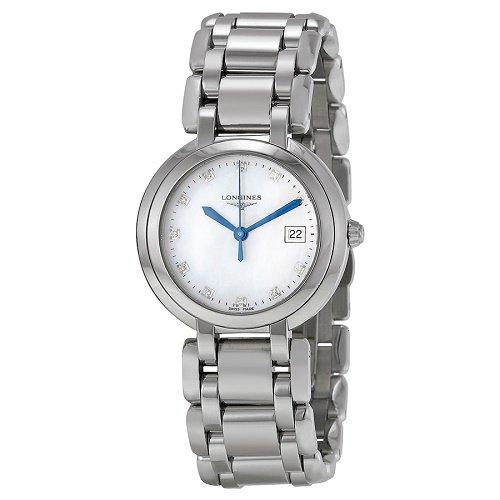 【Longines/ロンジン】 クオーツ腕時計 Prima Luna ホワイトパールダイアル ダイアモンド シルバー レディース ドレスウォッチ LNG811248…