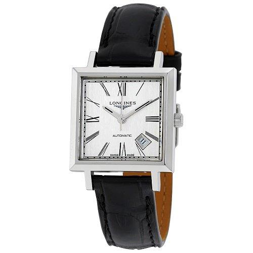 【Longines/ロンジン】 自動巻き腕時計 Heritage 1968 ブラックレザー スクエア レディース ウォッチ LNG229247…