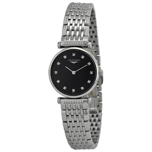 【Longines/ロンジン】 クオーツ腕時計Le Grande Classique ブラックダイアル ダイアモンド シルバー レディース ウォッチ LNG420945…