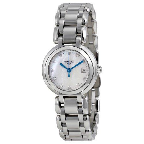 【Longines/ロンジン】 クオーツ腕時計Prima Luna ホワイトパールダイアル ダイアモンド レディース ウォッチ LNG811048…