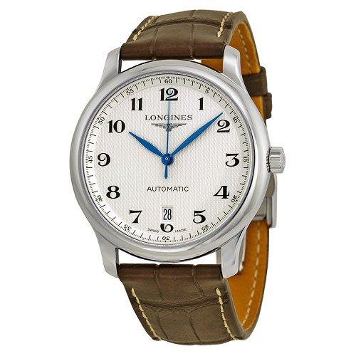 【Longines/ロンジン】 自動巻き腕時計 Master Collection シルバーダイアル ブラウンレザー メンズ ウォッチ LNG262847…
