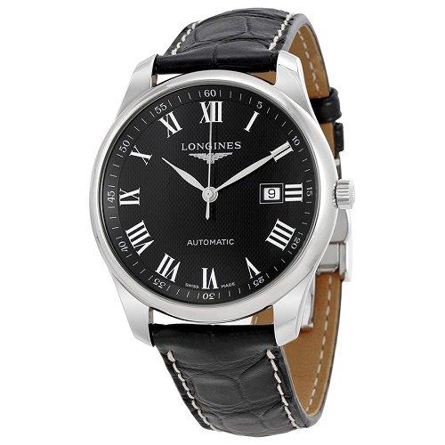 【Longines/ロンジン】 自動巻き腕時計 Master ブラックダイアル ブラックレザー メンズ ウォッチ LNG289345…
