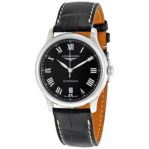 【Longines/ロンジン】 自動巻き腕時計 Master Collection ブラックダイアル ブラックレザー メンズ ウォッチ LNG262845…