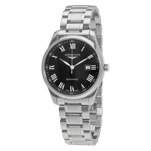 【Longines/ロンジン】 自動巻き腕時計 Master ブラックダイアル シルバー メンズ ドレスウォッチ LNG289345…