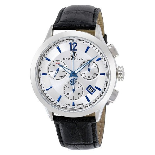【Brooklyn Watch Co./ブルックリンウォッチ】 クオーツ腕時計 Dakota クロノグラフ レザー メンズ ドレスウォッチ BW-205-M1121