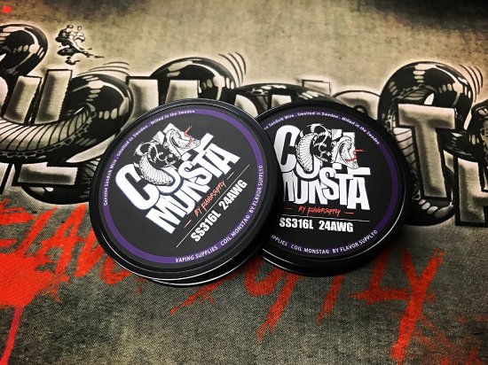COIL MONSTA  SS316wire  24AWG  30ft