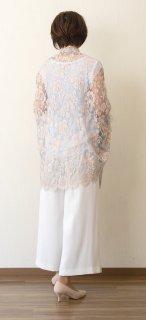 Leaver lace Wide Shawl (Champ de Fleurs)