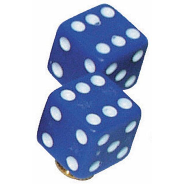 バルブキャップ サイコロ ブルー 1個