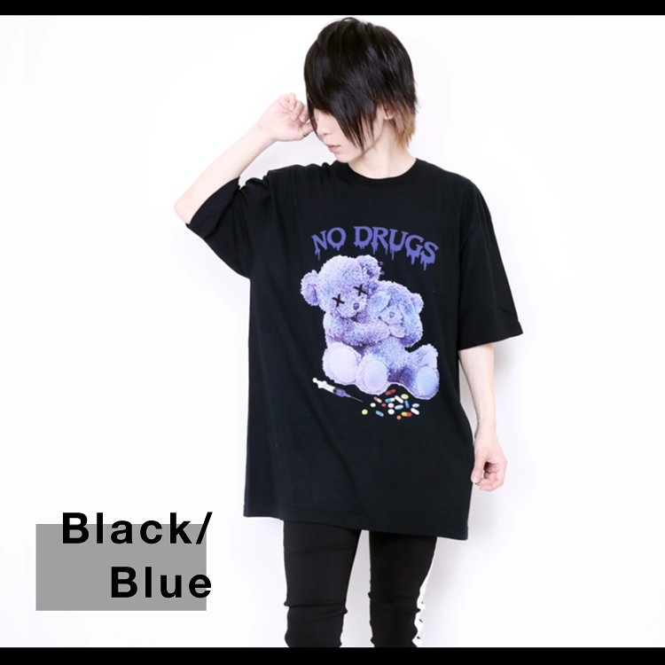 JURY BLACK ジュリーブラック WRouge ルージュ NO! DRUG! Message Bear BIG Tシャツ