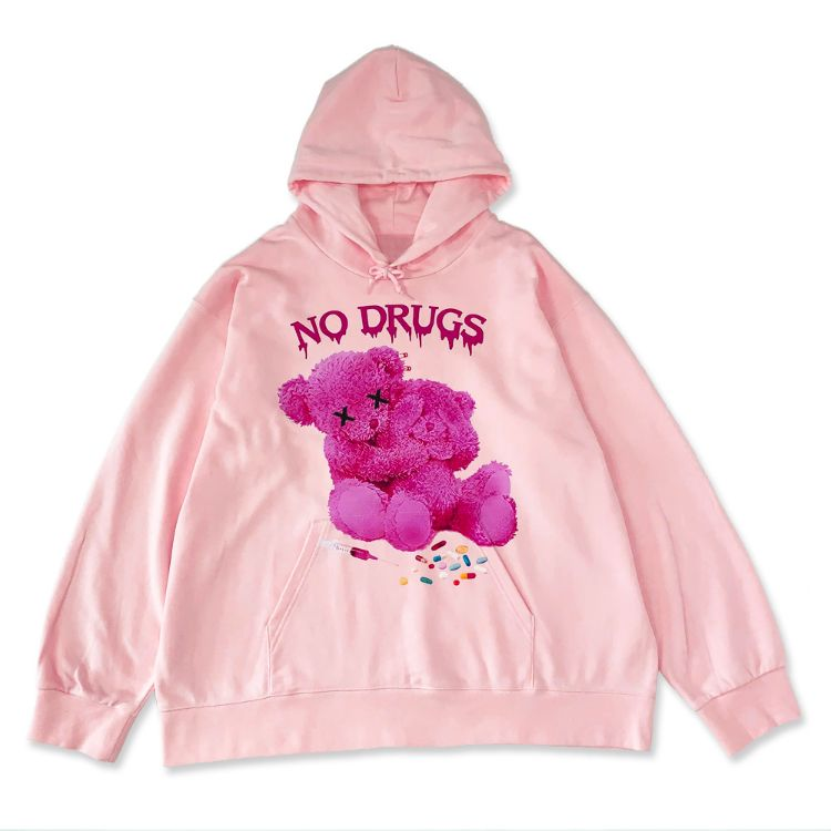 JURY BLACK ジュリーブラック WRouge ルージュ NO! DRUG! Message Bear BIG パーカー