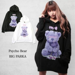 <img class='new_mark_img1' src='https://img.shop-pro.jp/img/new/icons47.gif' style='border:none;display:inline;margin:0px;padding:0px;width:auto;' />WRouge(ルージュ) Psycho Bear BIGパーカー