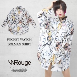 <img class='new_mark_img1' src='https://img.shop-pro.jp/img/new/icons1.gif' style='border:none;display:inline;margin:0px;padding:0px;width:auto;' />WRouge(ルージュ) POCKET WATCH 総柄ドルマンシャツ